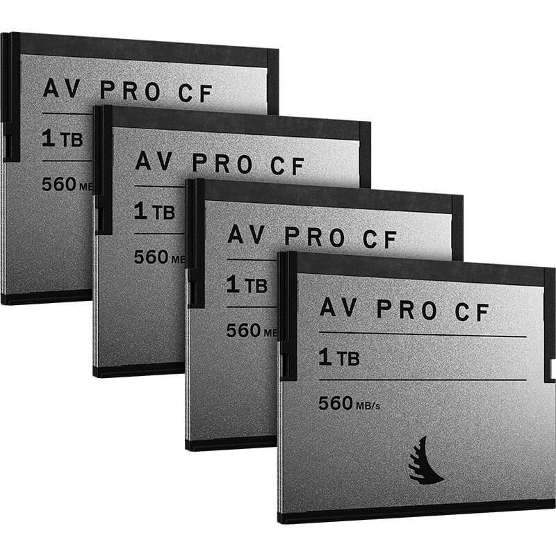 Angelbird AV Pro CF 1TB   4 Pack