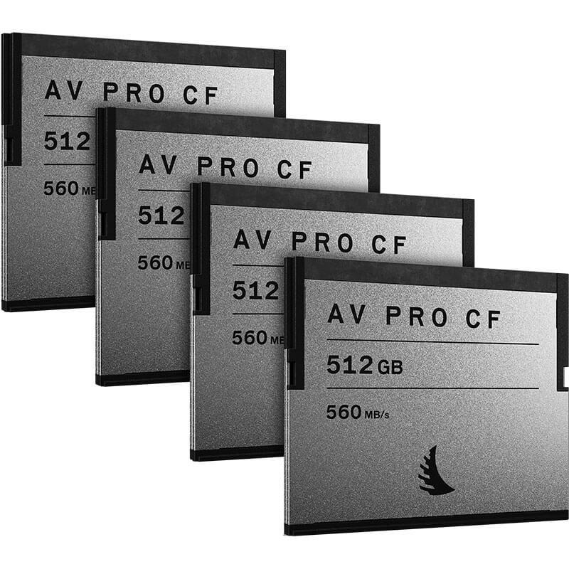 Angelbird AV Pro CF 512GB   4 Pack