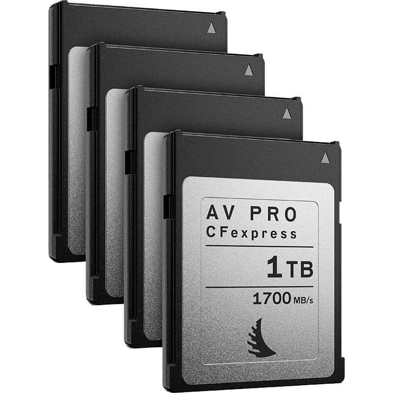 Angelbird AV Pro CFexpress 1TB | 4 Pack