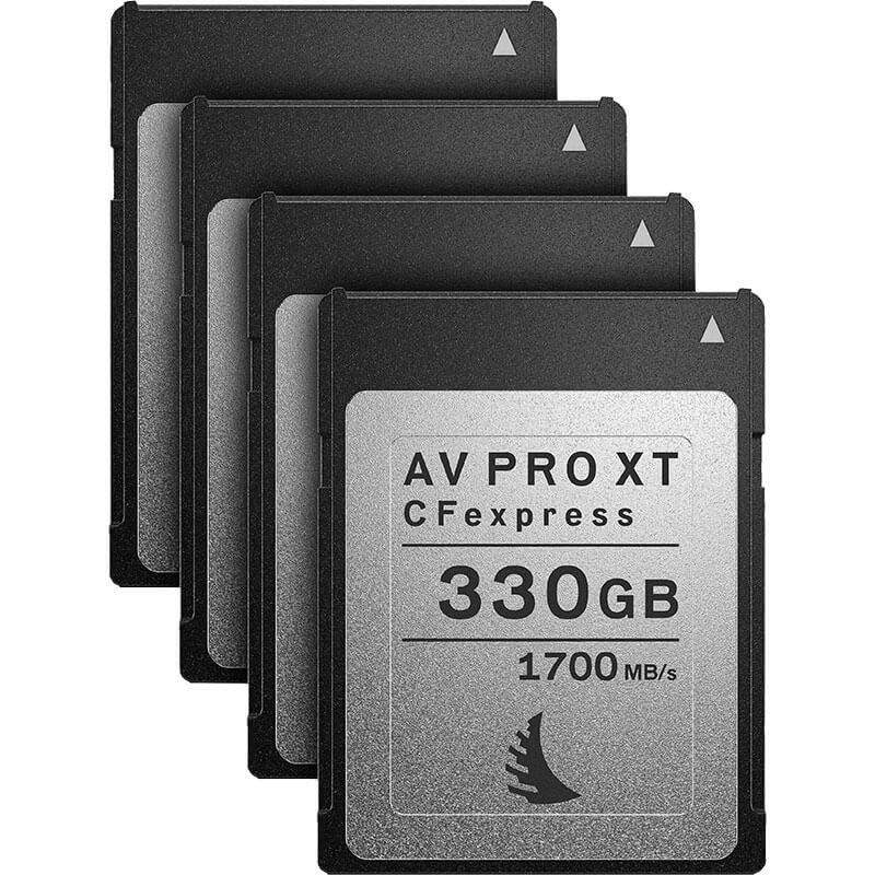 Angelbird AV Pro CFexpress XT 330GB   4 Pack