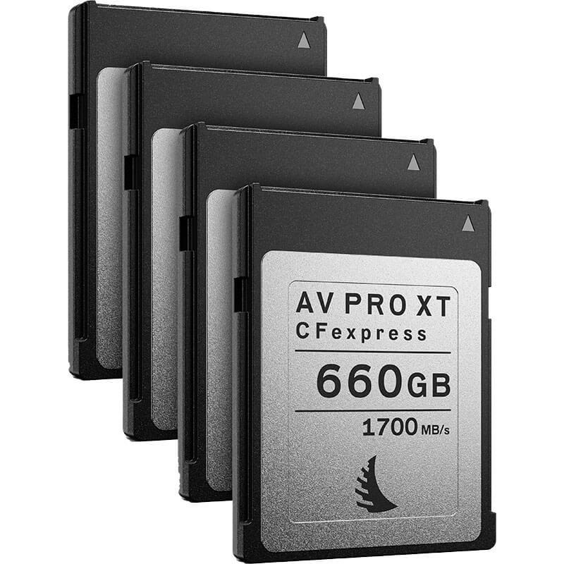 Angelbird AV Pro CFexpress XT 660GB   4 Pack