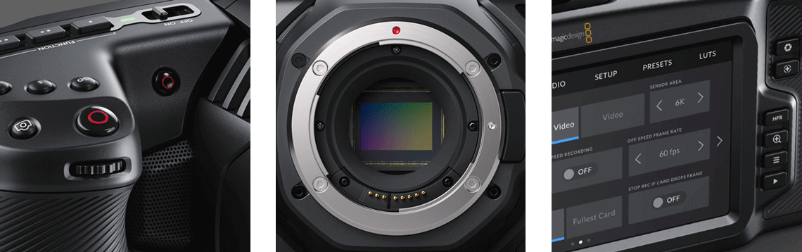 Blackmagic Design Pocket Cinema Camera 6K Closeup