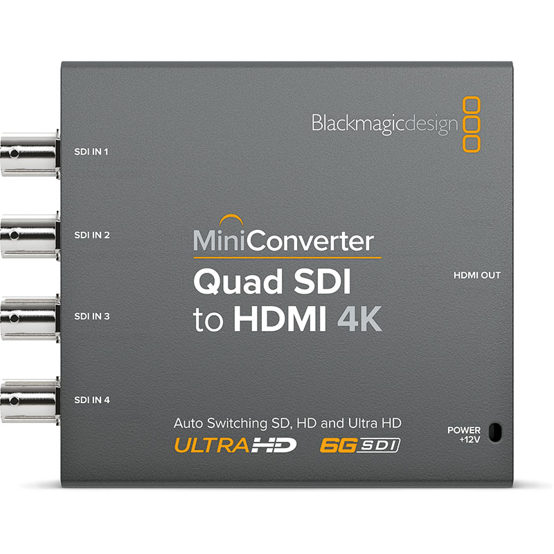 Blackmagic Design Mini Converter Quad Sdi To Hdmi 4k Holdan Limited