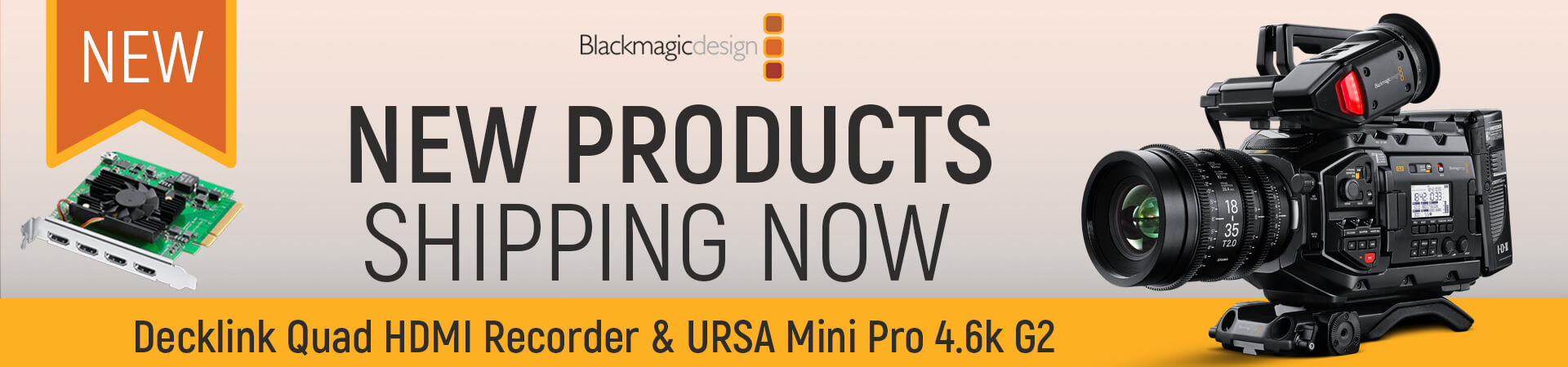 Blackmagic New Products