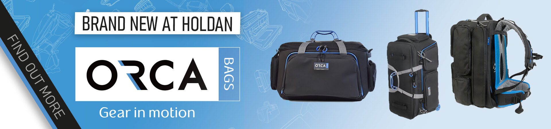 Orca Bags now available from Holdan