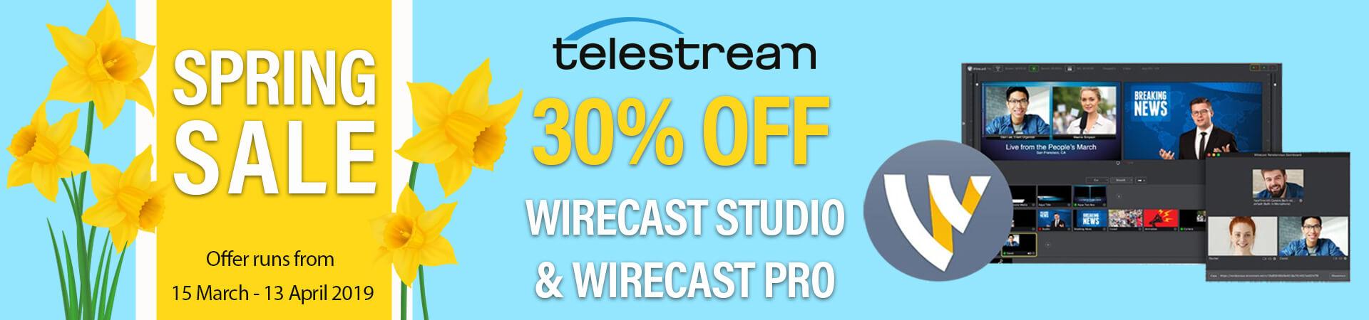 Telestream Wirecast Spring Sale