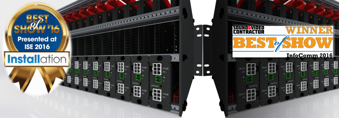 A powered universal rack mounting system for any and all manufacture's small devices