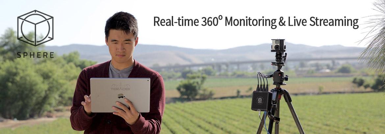 Live 360º video production system