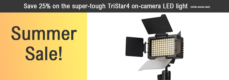 AlphatronTriStar 4 Bi-colour on-camera SMD LED light