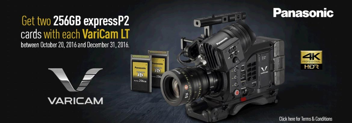 Buy a Varicam LT camera module receive two expressP2 cards 256GB free of charge