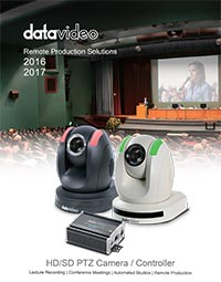 Datavideo Remote Production Solutions 2016 - 2017