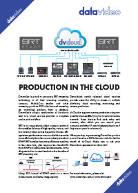 Datavideo SRT - Production in the Cloud