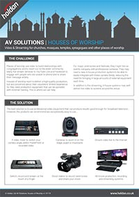 AV Solutions - Houses of Worship