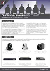 AV Solutions - Observation Room