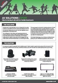 AV Solutions - Sport