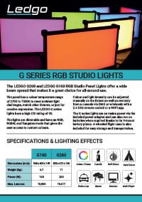 LEDGO G Series RGB Studio Lights