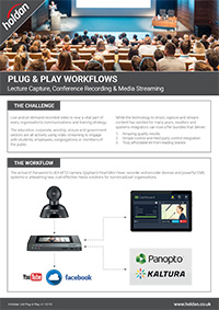 Plug & Play - Lecture Capture Conferences & Streaming