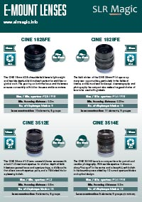 SLR Magic E Mount Brochure