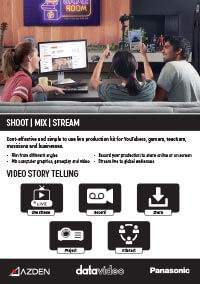Live production kit for YouTubers, gamers, teachers, musicians and businesses