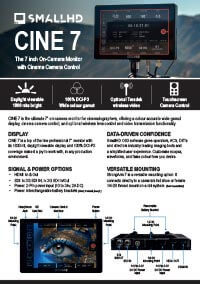 SmallHD Cine 7 Overview