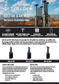 Teradek Bolt 4K and 4K Max v2