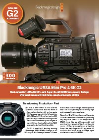 Blackmagic Design URSA Mini Pro G2 including Approved Accessories