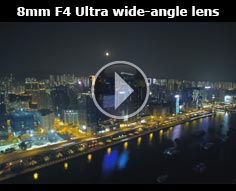 8mm F4 Ultra wide-angle lens