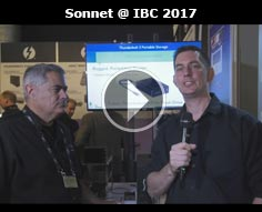 Fusion Flash Drive and Dual DisplayPort Adapter from Sonnet at IBC 2017