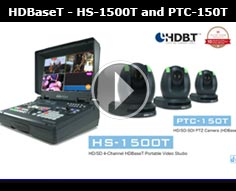 Datavideo「HS-1500T」HD/SD 4-Channel HDBaseT Portable Video Studio and「PTC-150T」HDBaseT