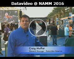 Datavideo at NAMM 2016 - Behind the Scenes