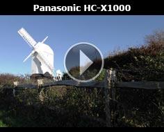 Panasonic HC-X1000 in use