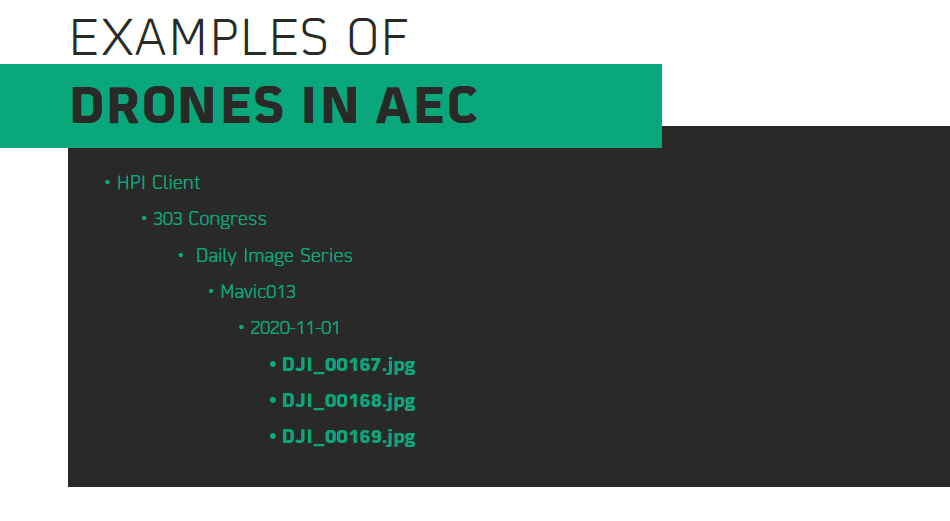 Examples of Drones in AEC