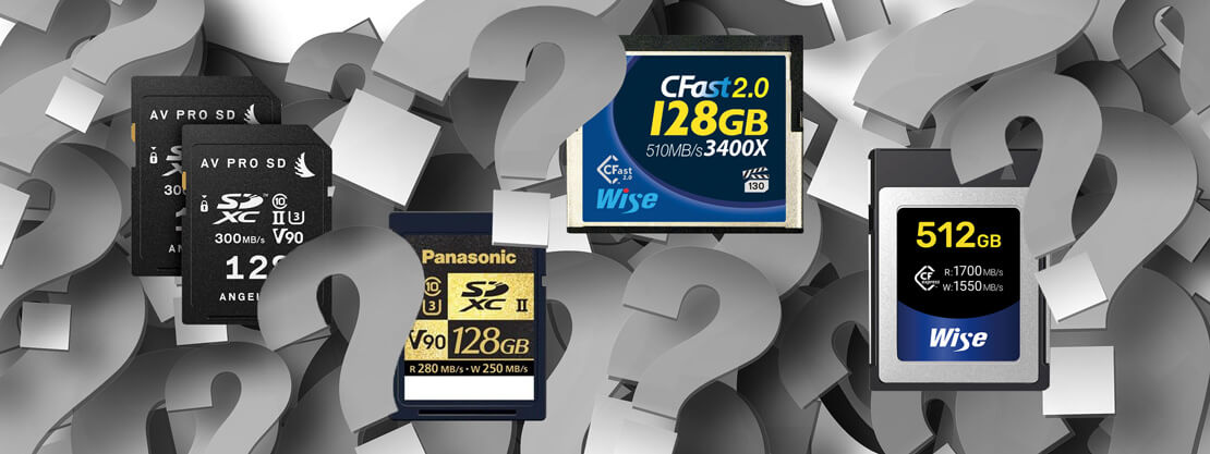 SDXC, CFast, XQD, CFexpress – which media card is best?