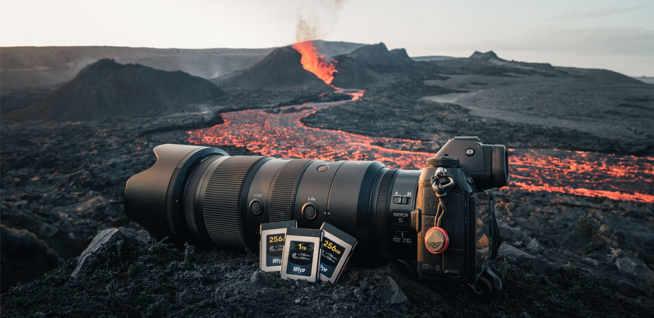 Norris Niman's Volcano Diaries -Wise Advanced CFexpress cards
