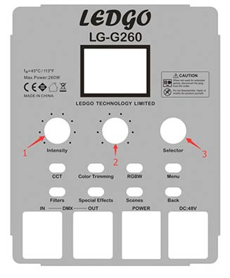 LG-G260 Control Panel
