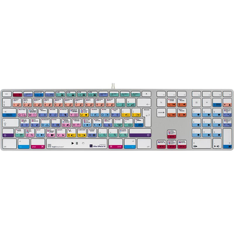 Logickeyboard After Effects CC Keyboard Advance - Mac