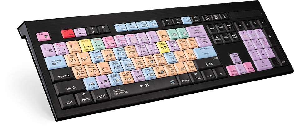 Logickeyboard Lightroom CC - Mac Backlit Astra