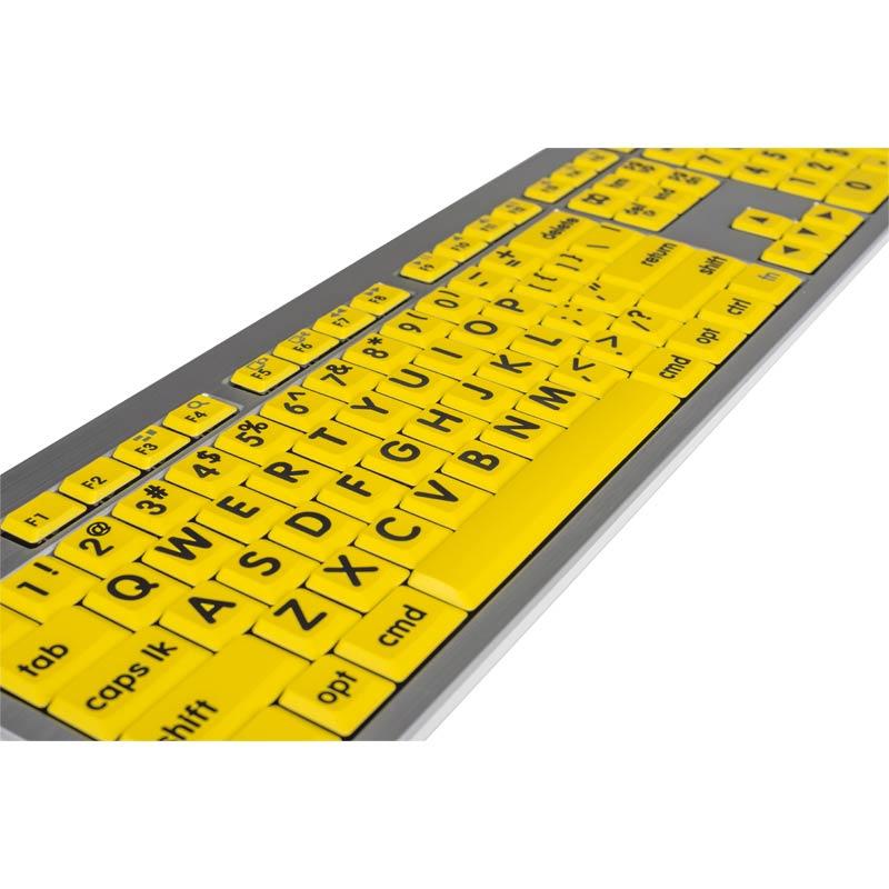 Logickeyboard XL Print - Black on Yellow Mac Alba