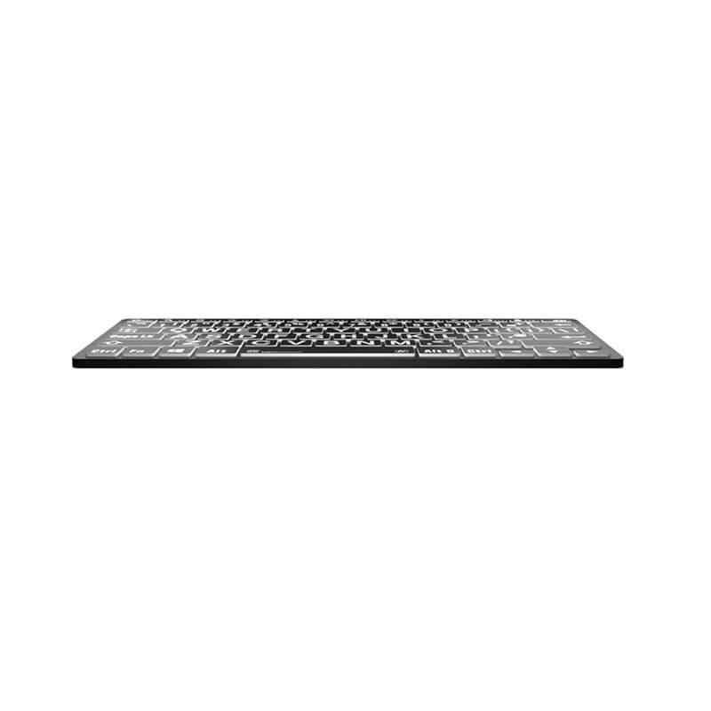 Logickeyboard LargePrint White on Black - PC Bluetooth Mini Keyboard