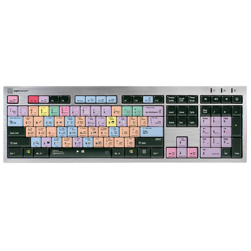 Logickeyboard Lightroom CC - Slim Line PC Keyboard