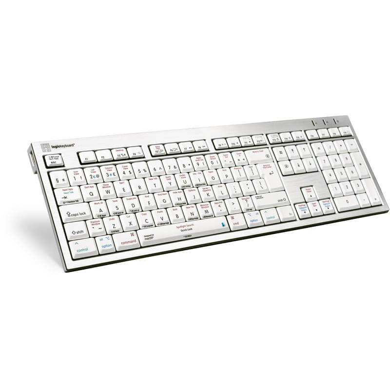Logickeyboard macOS Shortcut Keyboard - Alba