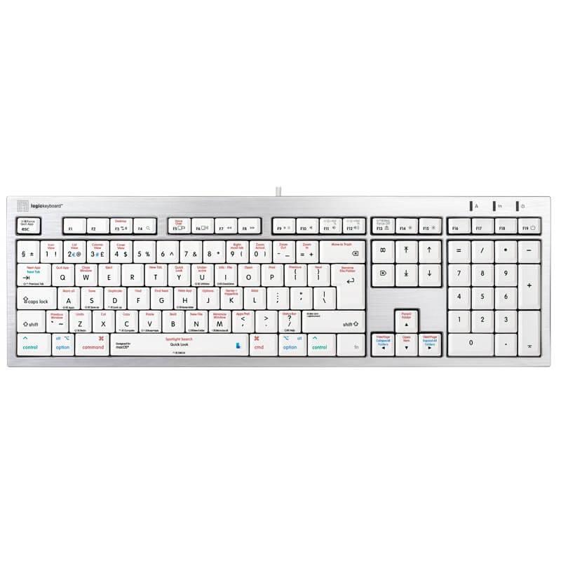 Logickeyboard macOS Shortcut Keyboard - Alba