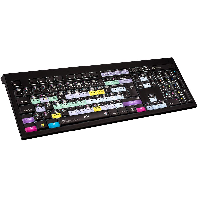 Logickeyboard DaVinci Resolve 14 - PC Backlit Astra