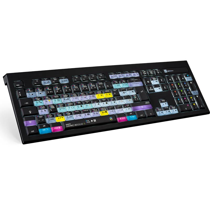 Logickeyboard DaVinci Resolve 15 / 16 - Mac Backlit Astra