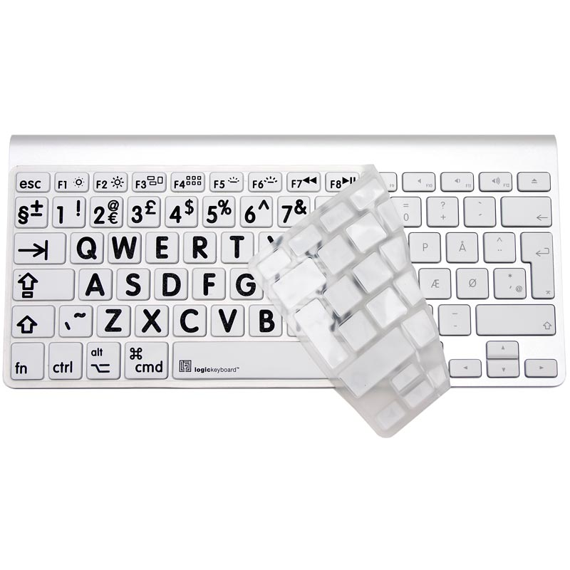 Logickeyboard XL Print LogicSkin Black on White Keyboard Cover