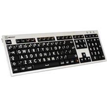 Logickeyboard XL Print - White on Black Mac Alba