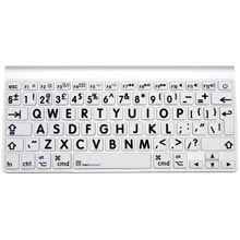 Logickeyboard XL Print LogicSkin Black on White Keyboard Cover