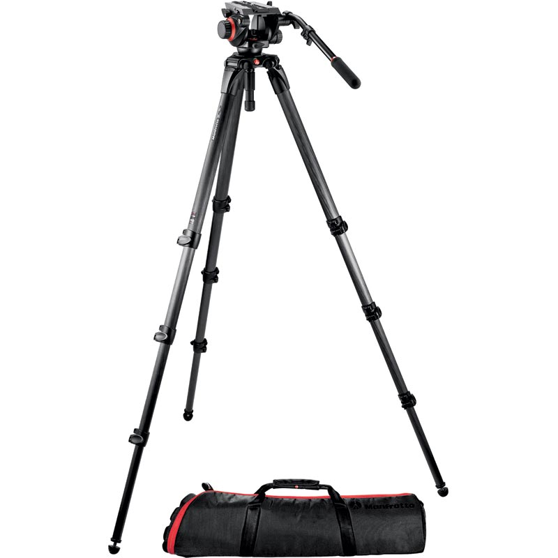 Manfrotto Midi CF Tall System 536 Tripod |  504HD Video Head