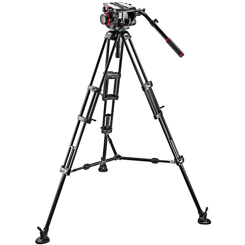 Manfrotto Pro Middle-Twin Kit 100 Tripod | 509HD Video Head