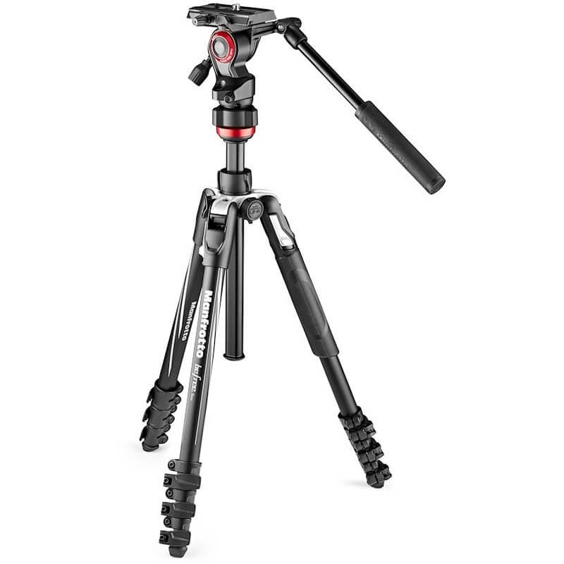 Manfrotto Befree Live Aluminium tripod lever, video head